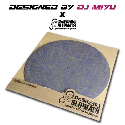 DJ MIYU x DR. SUZUKI SLIPMATS [YELLOW x GREY]