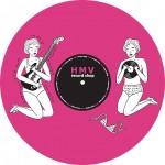 HMV record shopのイメージカラーピンクを基調として カラヴァイナルのピンク盤をイメージしてデザインした メチャクチャ可愛いSLIPMATです!